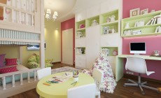 Детская игровая комната 20 кв. м в современном стиле