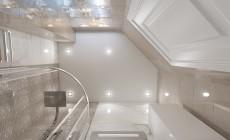 Санузел в трехкомнатной квартире, современный классический стиль
