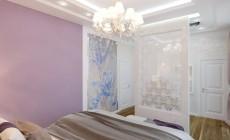 Спальня в трехкомнатной квартире, современный классический стиль