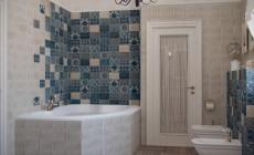 Ванная комната на втором этаже загородного дома