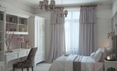 Спальня для девочки на втором этаже загородного дома