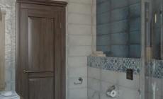 Ванная комната в мансарде загородного дома
