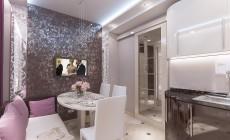 Кухня с балконом в современном стиле