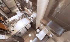 Ванная комната в однокомнатной квартире, современный стиль
