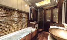 Ванная комната в трехкомнатной квартире