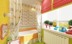 Ванная комната 6 кв. м для детей, на втором этаже загородного дома, классический стиль
