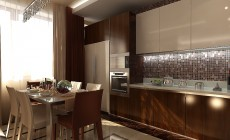 Гостиная-кухня 40 кв. м в современном стиле