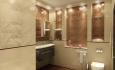 Ванная комната 7 кв. м в современном стиле