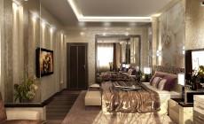 Спальня 25 кв. м в современном стиле