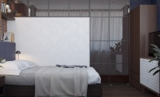 Спальня 8 кв. м в современном стиле