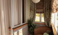 Лоджия в гостиной 3 кв. м в современном стиле