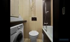 Туалет 3 кв. м в современном стиле