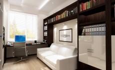 Рабочий кабинет 10 кв. м в современном стиле