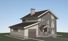 Проект дома из газобетона размерами 10х13