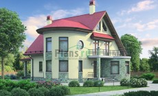 Проект кирпичного дома 37-34