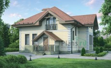 Проект кирпичного дома 37-37