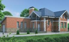 Проект кирпичного дома 37-38