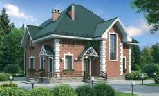 Проект кирпичного дома 37-55