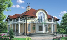 Проект кирпичного дома 37-76