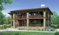 Проект кирпичного дома 37-89
