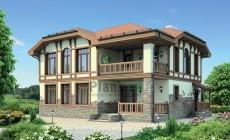 Проект кирпичного дома 38-02