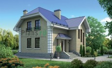 Проект кирпичного дома 38-13