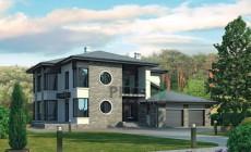 Проект кирпичного дома 38-19