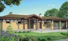 Проект кирпичного дома 38-21