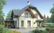 Проект кирпичного дома 38-27