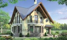 Проект кирпичного дома 38-33