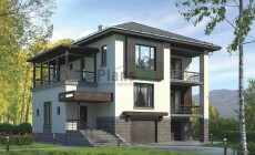Проект кирпичного дома 38-36