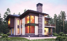 Проект кирпичного дома 38-41