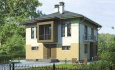 Проект кирпичного дома 38-45