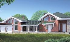 Проект кирпичного дома 38-50