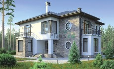 Проект кирпичного дома 38-55