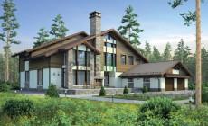 Проект кирпичного дома 38-60