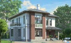 Проект кирпичного дома 38-63
