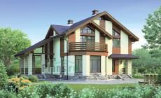 Проект кирпичного дома 38-65