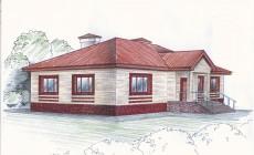 Рабочий проект одноэтажного жилого дома