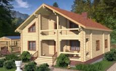 Проект бревенчатого дома AM-2006