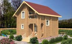 Проект бревенчатого дома AM-2002