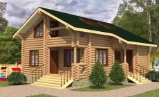 Проект бревенчатого дома AM-2003