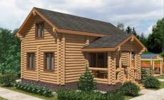 Проект бревенчатого дома AM-2005