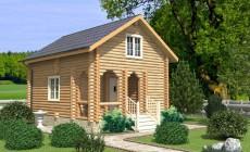 Проект бревенчатого дома AM-2007