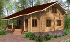 Проект бревенчатого дома AM-2014