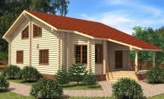 Проект бревенчатого дома AM-2021