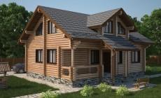 Проект бревенчатого дома AM-2023