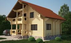 Проект бревенчатого дома AM-2024