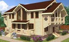 Проект бревенчатого дома AM-2030