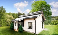 Финский одноэтажный каркасный дом (полный проект!)